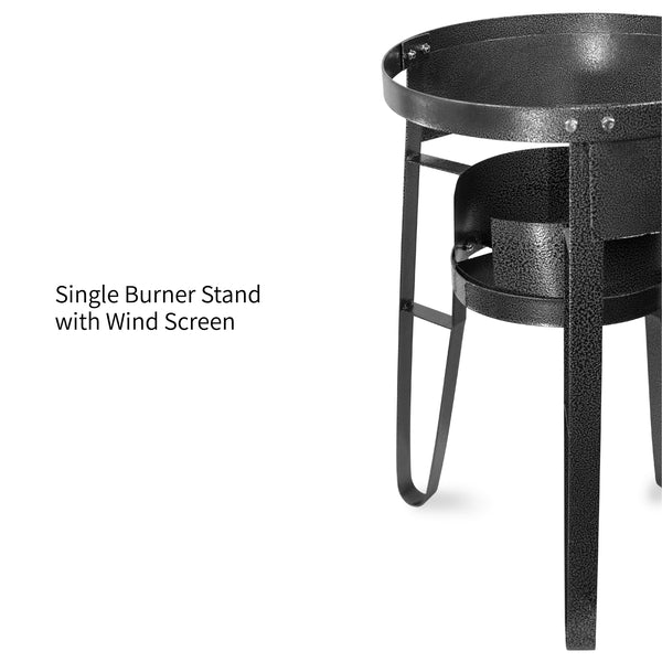 Vulcanus V-L01 Low Pressure Cast Iron Burner. 1-M Single Burner Stand with Wind Screen. Free shipping (Excluding HI, AK)
