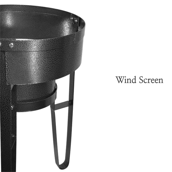 Vulcanus 1-L Single burner stand with wind screen, Free shipping (Excluding HI, AK)