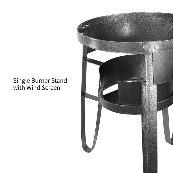 Vulcanus 1-M Single burner stand with wind screen, Free shipping (Excluding HI, AK)