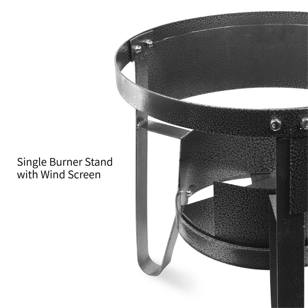 Vulcanus 1-S Single burner stand with wind screen
