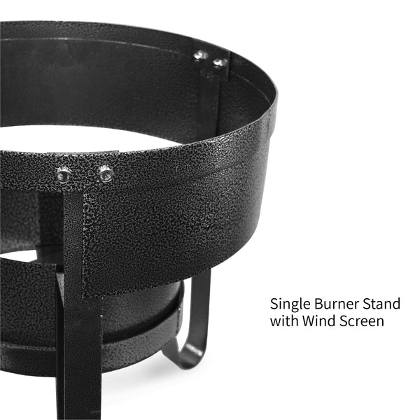 Vulcanus 1-S Single burner stand with wind screen, Free shipping (Excluding HI, AK)