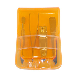 Three Seven, Nail Clipper Set 4pcs DS-84, MADE IN KOREA (Orange), Free shipping (Excluding HI, AK)