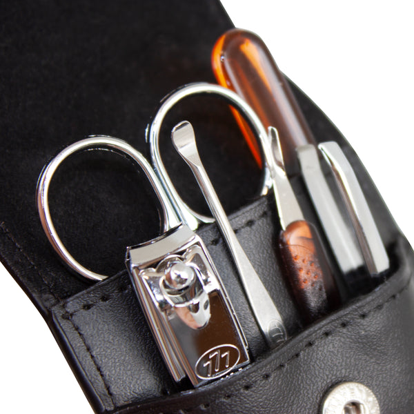 Three Seven, Nail Clipper Set Black 6pcs DS-33, MADE IN KOREA, Free shipping (Excluding HI, AK)
