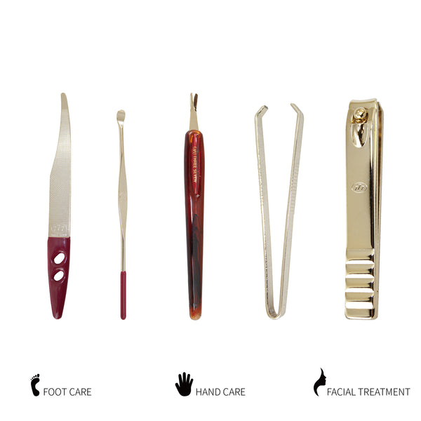 Three Seven, Nail Clipper Set gold 6pcs DS-12200G, MADE IN KOREA, Free shipping (Excluding HI, AK)