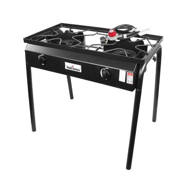 Vulcanus 2-20A High Pressure Cast Iron Double Burner