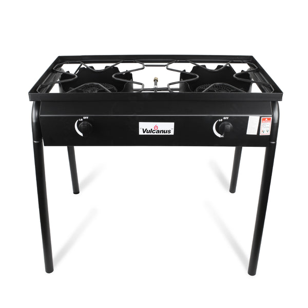 Vulcanus 2-20A High Pressure Cast Iron Double Burner, Free shipping (Excluding HI, AK)