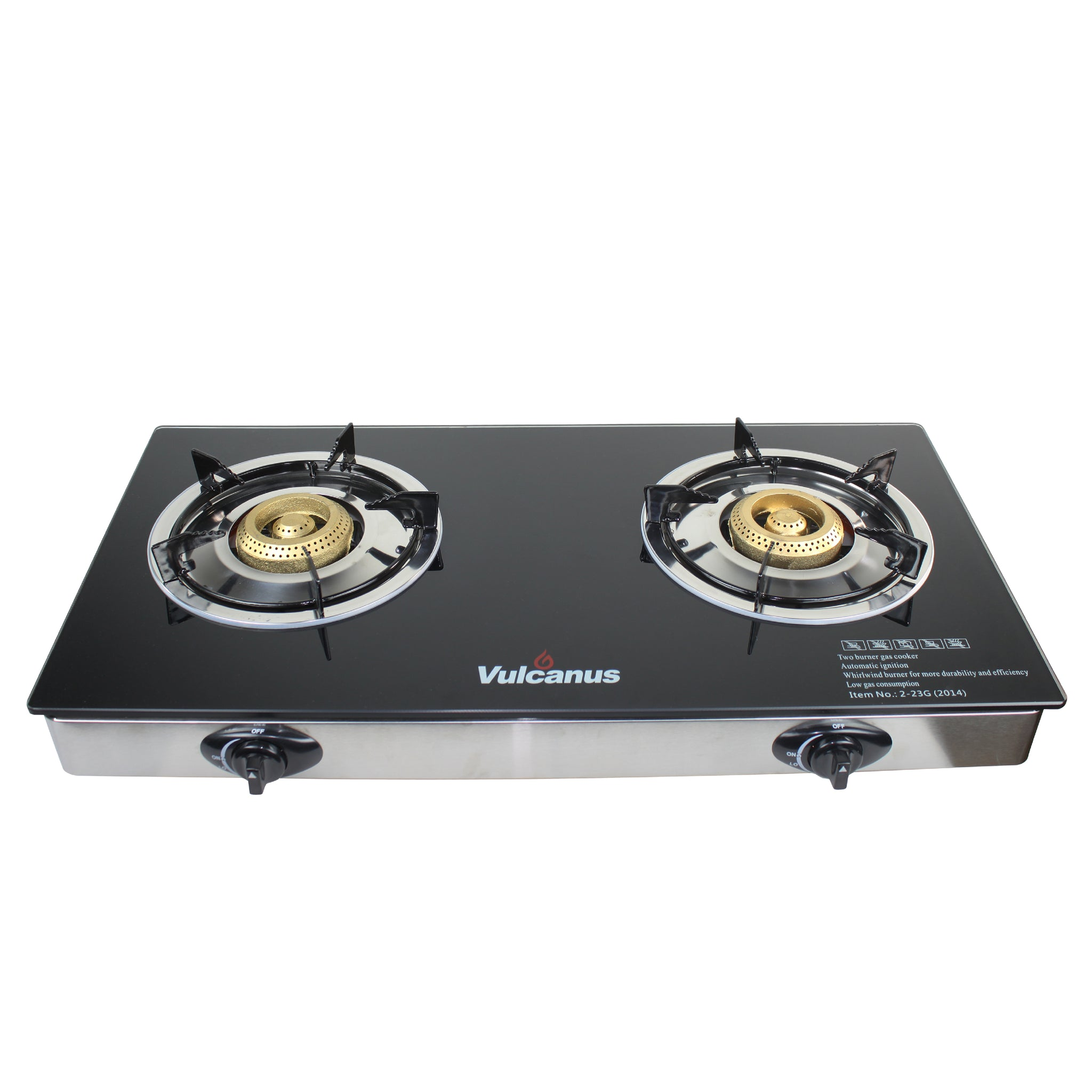 Vulcanus 2-23G Double cast iron glass burner, Free shipping (Excluding HI, AK)
