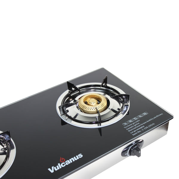 Vulcanus 2-23G Double cast iron glass burner