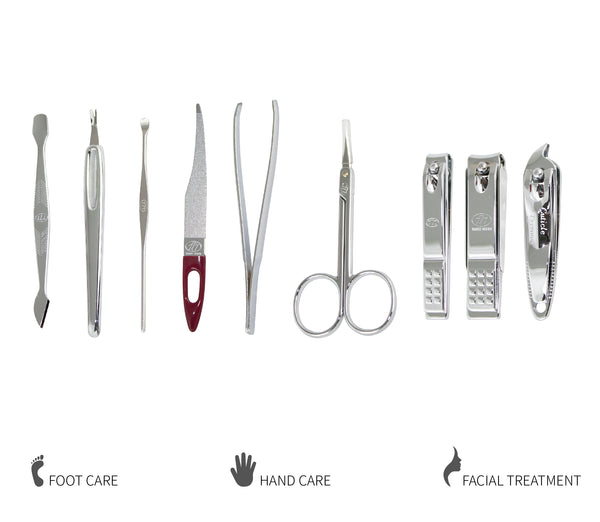 Three Seven, Nail Clipper Set 9pcs TS-636X, MADE IN KOREA, Free shipping (Excluding HI, AK)