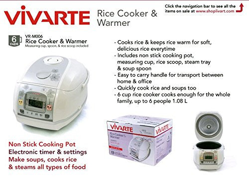 Vivarte Micom 6-Cup Rice Cooker, Free shipping (Excluding HI, AK)