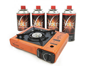 Livart Portable Outdoor Stove with Volt Butane Kit, Free shipping (Excluding HI, AK)