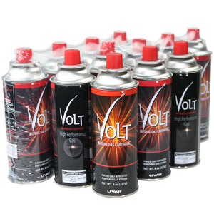 Livart GAS-2 VOLT Butane Gas (12-Pack), Free shipping (Excluding HI, AK)