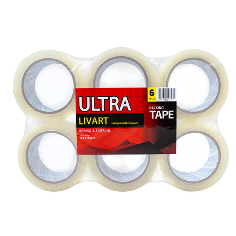 "Ultra Boxing & Shipping Tape, Packing Tape, 2"" x 100 Yard 6Rolls_VPT-210043C (6Rolls), Free shipping (Excluding HI, AK)"