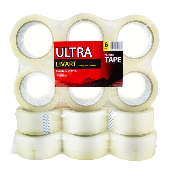 "Ultra Boxing & Shipping Tape, Packing Tape, 2"" x 100 Yard 6Rolls_VPT-210043C (18Rolls), Free shipping (Excluding HI, AK)"