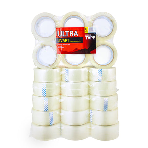"Ultra Boxing & Shipping Tape, Packing Tape, 2"" x 100 Yard 6Rolls_VPT-210043C (36Rolls), Free shipping (Excluding HI, AK)"
