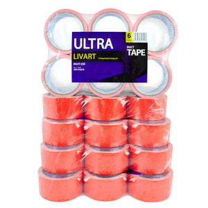 "Livart Ultra Duck Tape, Multi Tape, 2"" x 10 Yard 6Rolls(1Pack)_VPT-210210 (30rolls), Free shipping (Excluding HI, AK)"