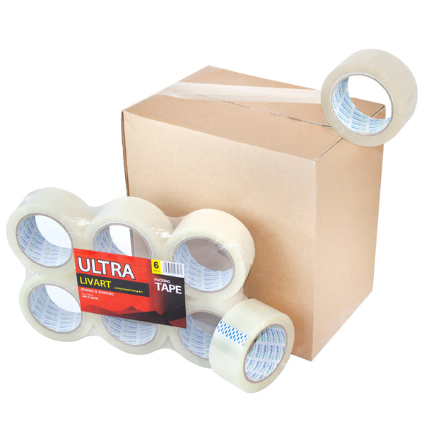 "Ultra Boxing & Shipping Tape, Packing Tape, 2"" x 100 Yard 6Rolls_VPT-210043C (12Rolls), Free shipping (Excluding HI, AK)"