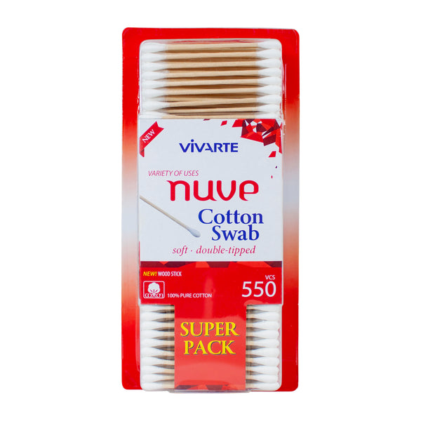 Vivarte Nuve Cotton Wood Swabs 550 Pieces