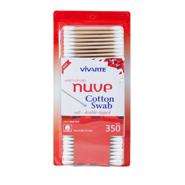Vivarte Nuve Cotton Wood Swabs 350 Pieces