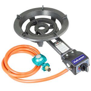 Vulcanus V-L01 Low pressure cast iron burner with CSA Propane Regulator and Hose