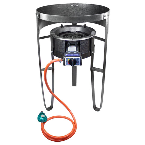 Vulcanus V-L01 Low Pressure Cast Iron Burner. 1-L Single Burner Stand with Wind Screen. Free shipping (Excluding HI, AK)