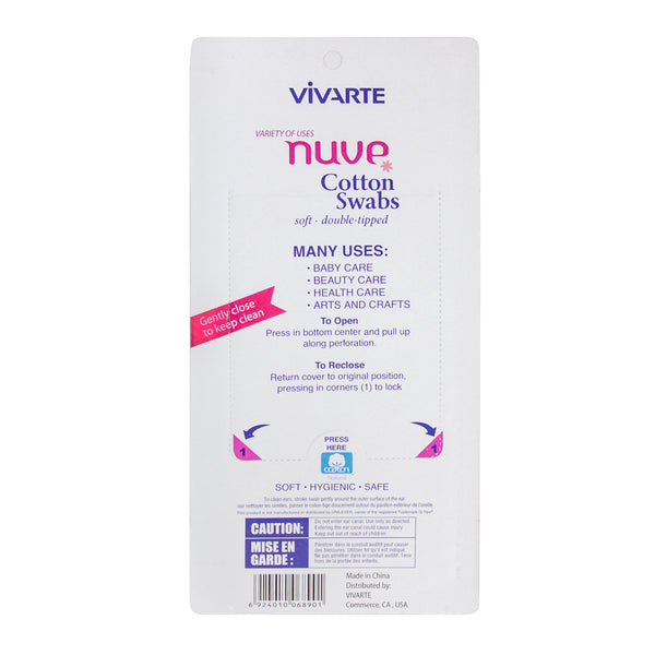 Vivarte Nuve Cotton Wood Swabs 450 Pieces