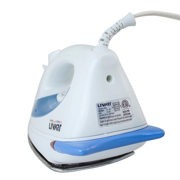 Livart LI-02 Steam Iron Deluxe, Blue, Free shipping (Excluding HI, AK)