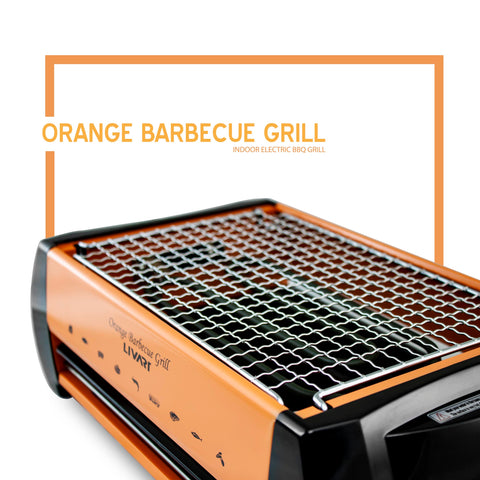 Livart LV-982 Electric Orange Barbecue Grill, Free shipping (Excluding HI, AK)