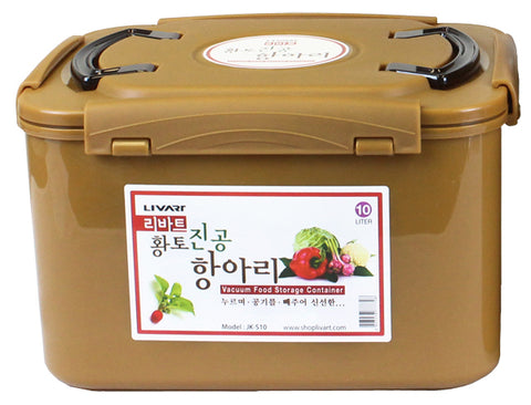 Livart Kimchi, Sauerkraut Fermentation and Storage Container with Inner Vacuum Lid 10 Liter FREE SHIPPING