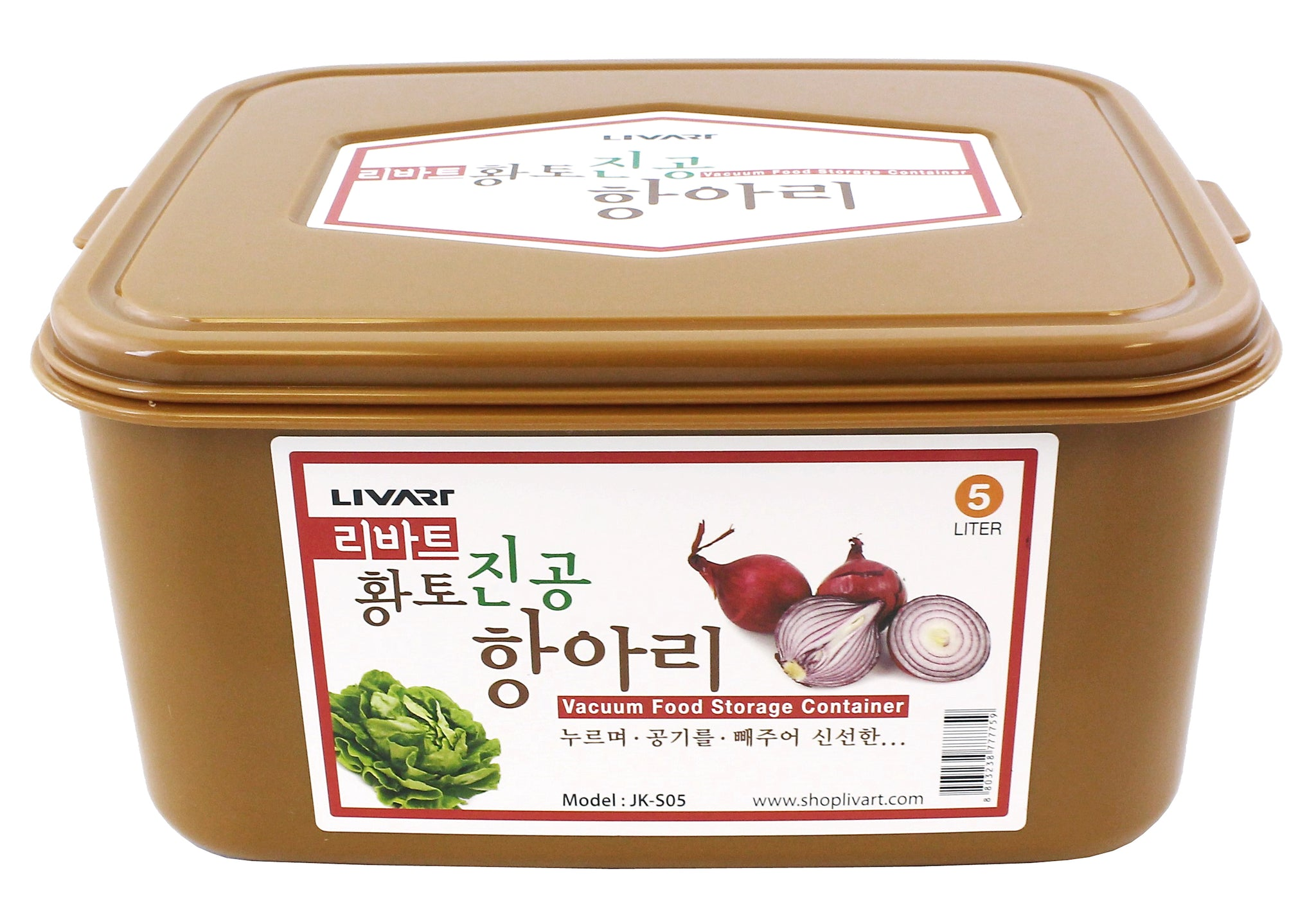 Livart Kimchi, Sauerkraut Fermentation and Storage Container with Inner Vacuum Lid 5 Liter FREE SHIPPING
