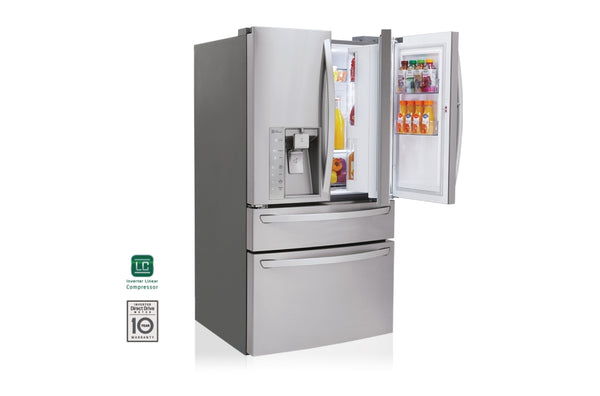 LG 30 cu. ft. Super Capacity 4-Door French Door Refrigerator + Kimchi Refrigerator, Shipping (To be added shipping separately)