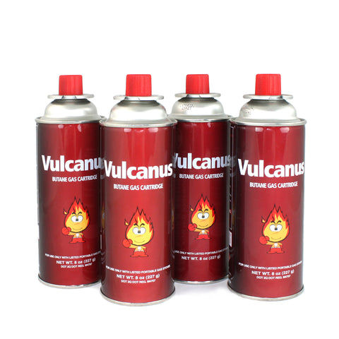Livart GAS-1 Vulcanus Butane Gas (4-Pack), Free shipping (Excluding HI, AK)