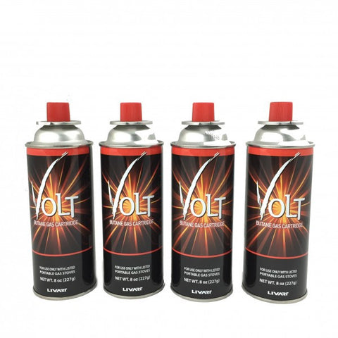 Livart GAS-2 VOLT Butane Gas (4-Pack)