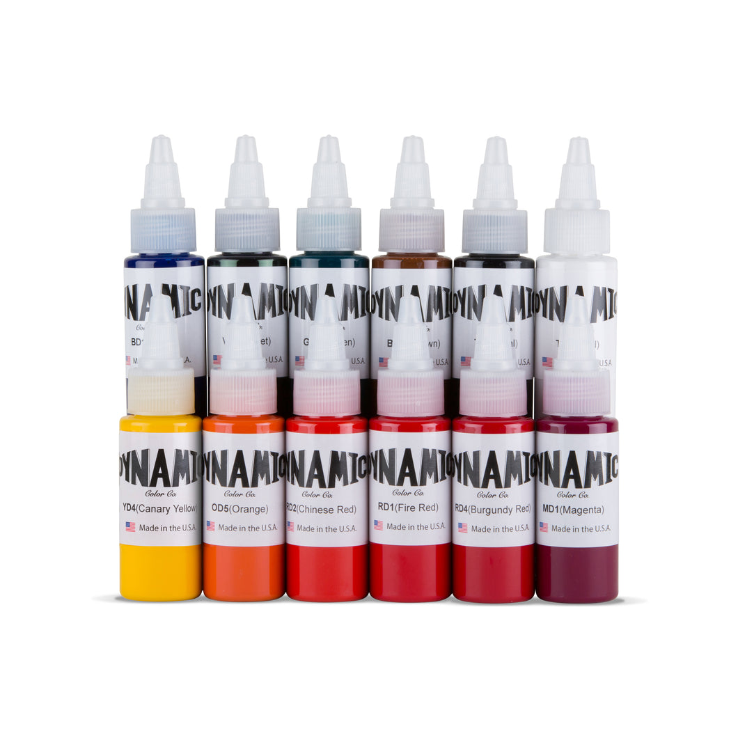 OG Tattoo Ink Color Set - 1 oz. Bottles