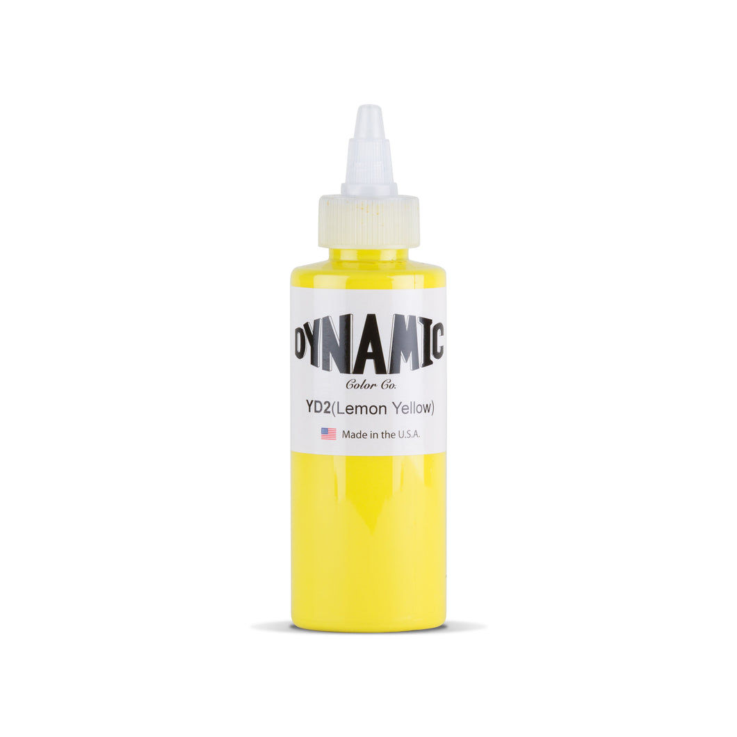 Lemon Yellow Tattoo Ink - 4 oz. Bottle