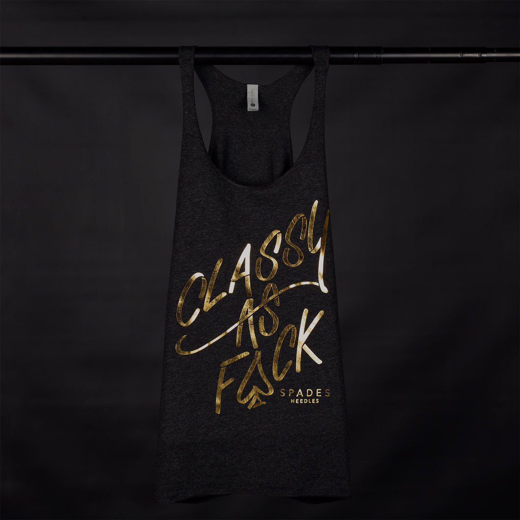 Classy As F@CK - Racer Back Tank Top
