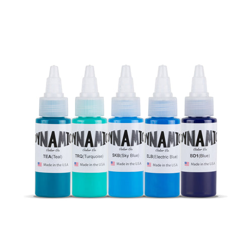 Dynamic Tattoo Ink Oceans 1oz Color Set
