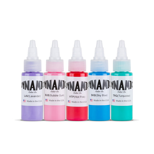 Dynamic Tattoo Ink Candy 1oz Color Set