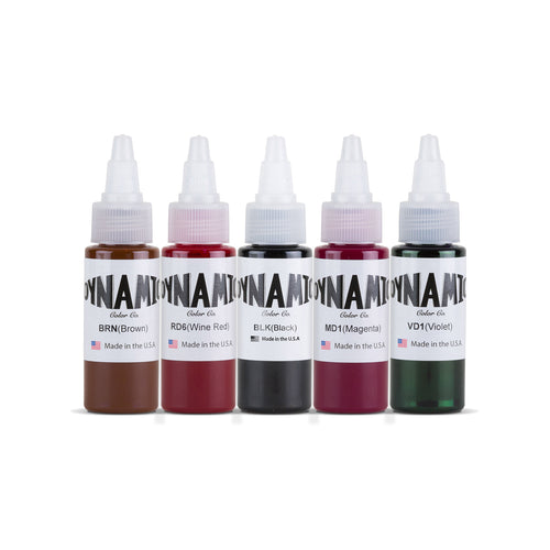 Dynamic Tattoo Ink Vintage 1oz Color Set