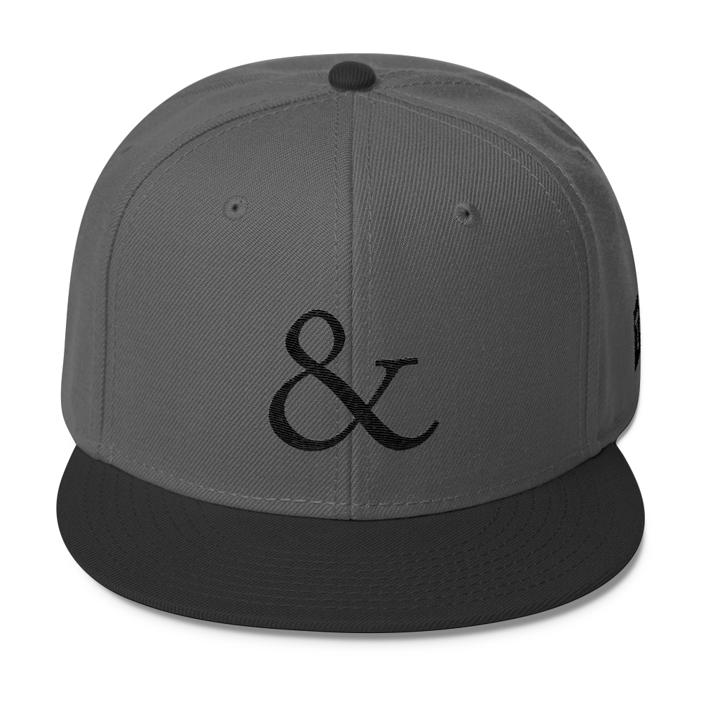 Ampersand Snapback Hat (black series)