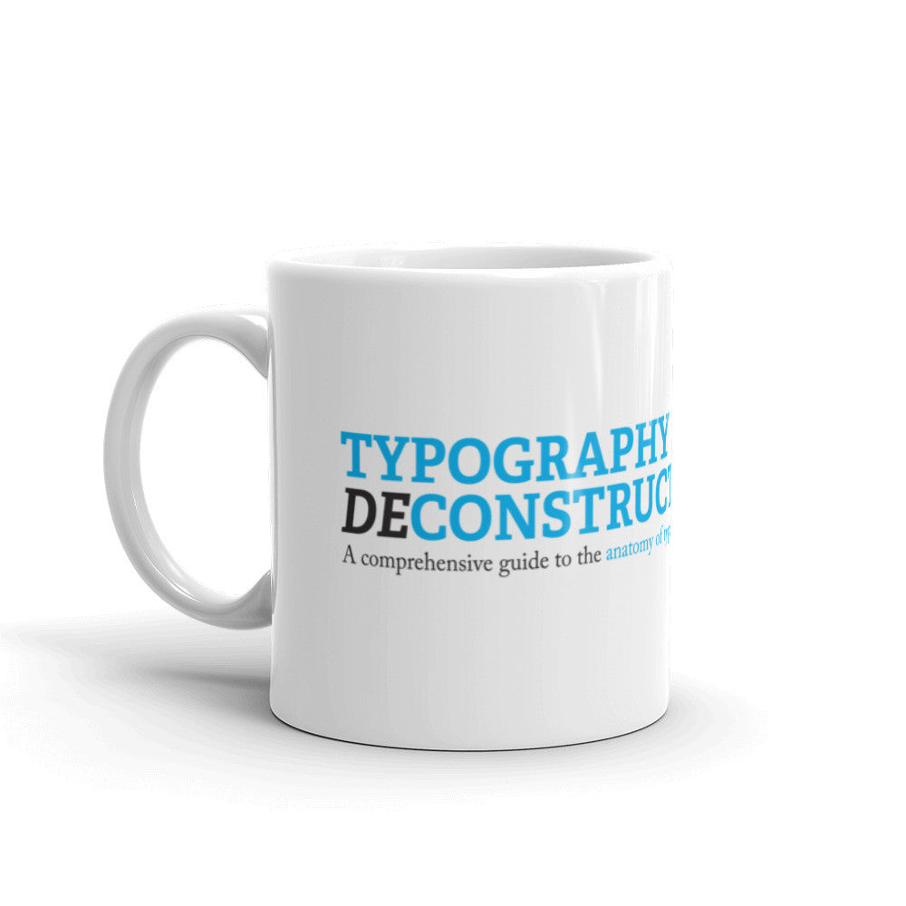 Typography Deconstructed Mug