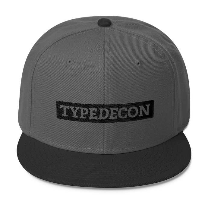 TypeDecon Snapback Hat (black series)