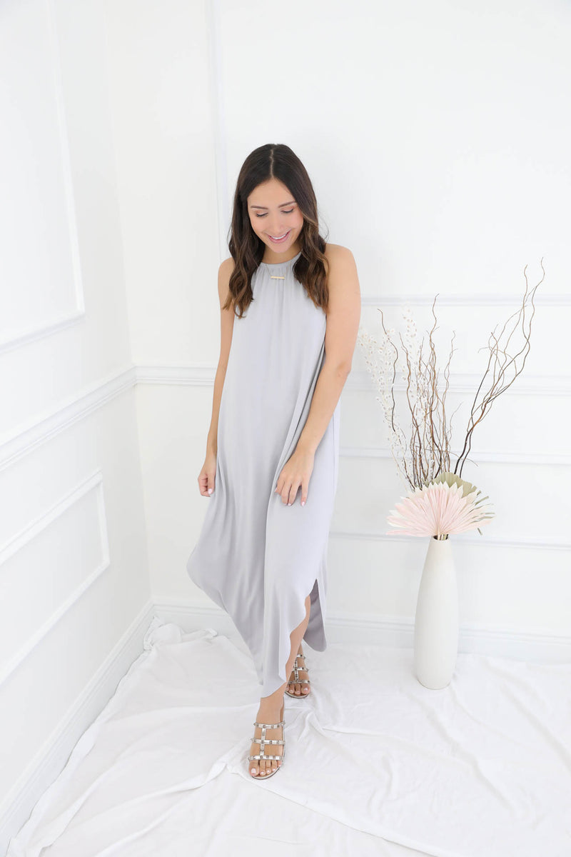 Right On Time Midi Dress - Cloud