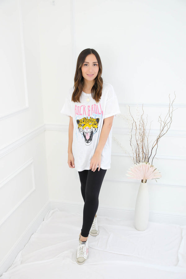 Rock & Roll Tee - White
