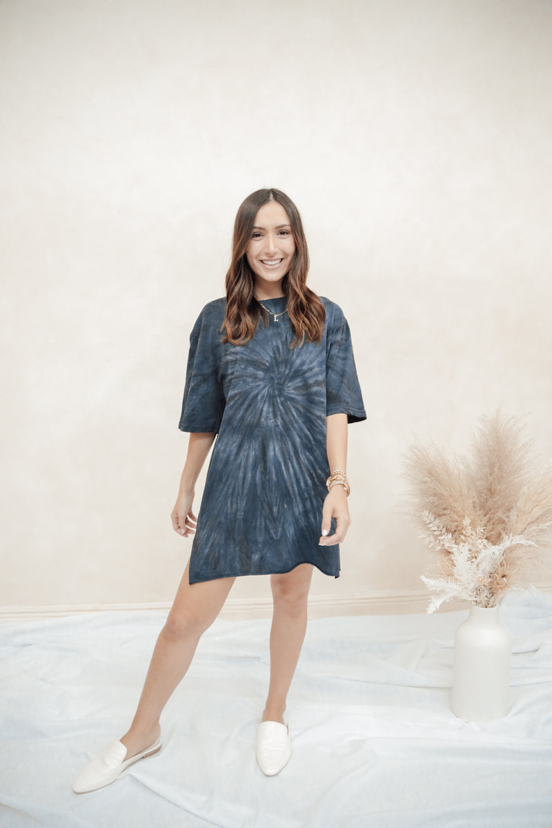 Phoenix Blue Shirt Dress