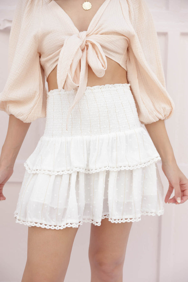 Free To Be Me Ivory Skirt