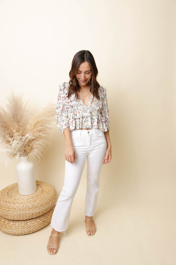 Spring Things Floral Top