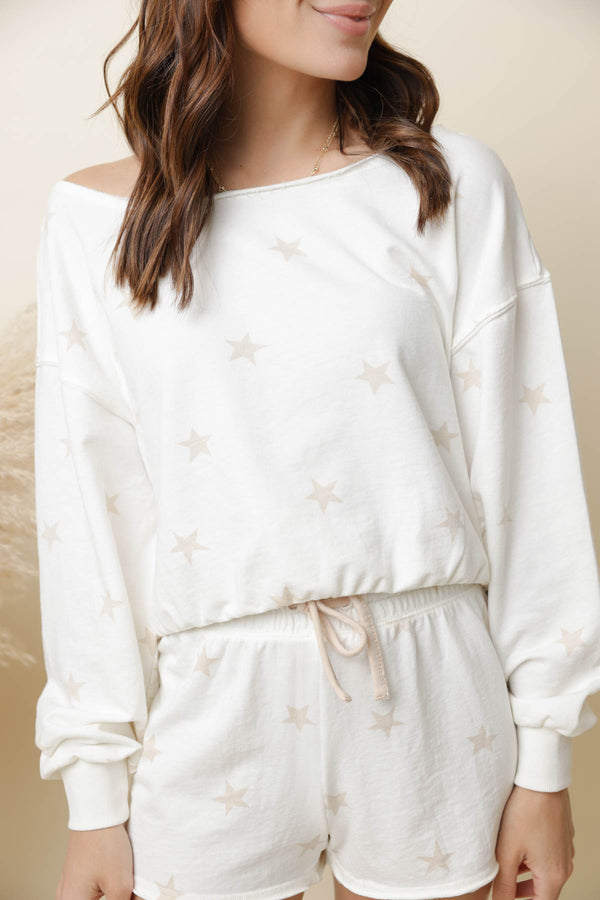Z Supply Zoe Summer Star Sweatshirt