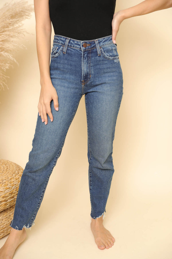Krista Dark Wash Straight Jeans