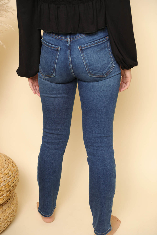 Cristina Dark Wash Straight Jeans